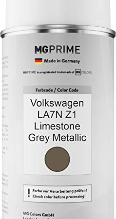 Mg Prime Autolack Sprühdosen Set Für Volkswagen Vw La7n Z1 Limestone Grey Metallic Basislack Klarlack Spraydose 400ml Auto