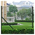 "K&A Company Fence Panel, Chain Link Fence with Posts Galvanised Steel 59.1""x 984.3"" Green"
