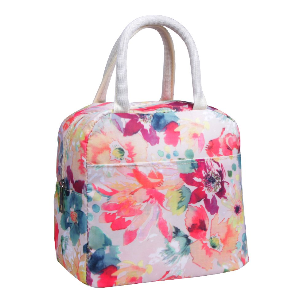 Amazon.com: Insulated Lunch Bag Modern Portable Cooler Tote Bag ...