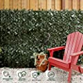 Faux Ivy Privacy Fence Screen with Expand Panel