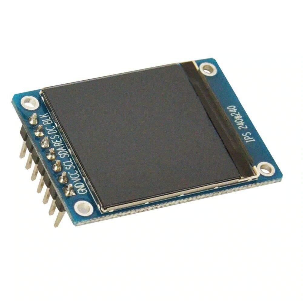 2 unit/à da 1,3 Pollici IPS HD TFT ST7789 Drive IC 240 240 Modulo di Schermo LCD a Colori TECNOIOT 240 Full Color LCD Display Module 2 pz 1.3 Pollici IPS HD TFT ST7789 Drive IC 240