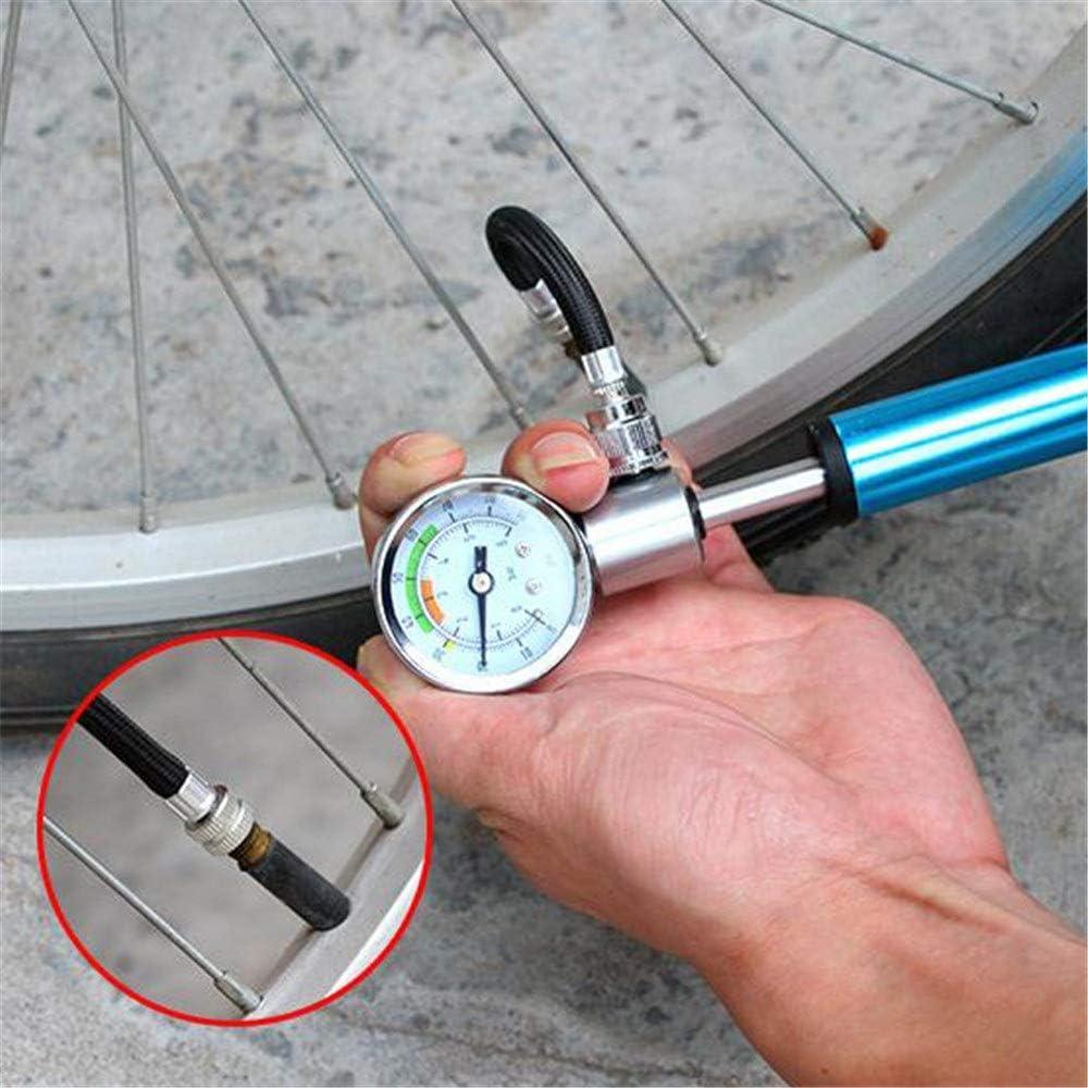 Fahrradpumpe Wasserdichte Mini-Fahrrad-Standpumpe mit tragbarem Multifunktions-Fahrradreifenpumpen-Universal-Presta-Schrader-Ventil Ultraleichtes Aluminium Farbe : Blau , Gr/ö/ße : 19.5x4cm