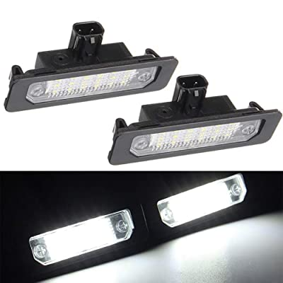 Xinctai 2PCS LED Rear Number License Plate Light Lamp For Ford Mustang Focus Fusion Flex Mercury sable milan Lincoln MKS MKT MKX MKZ OEM 8T5Z13550B 8T5Z13550A: Automotive
