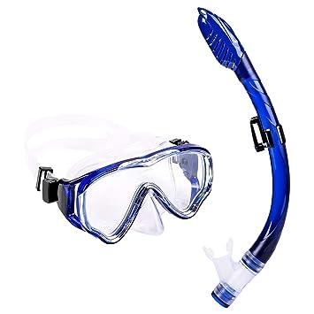 b092813d5fbf7 UPhitnis Schnorchelset Kinder - Taucherbrille Anti-Fog und Trocken  Schnorchel - Anti-Leck Tauchmaske