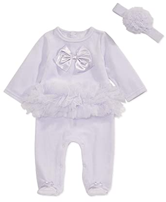 8227be291 Amazon.com: First Impressions Baby Girls 2-Pc. Ballerina Footed ...