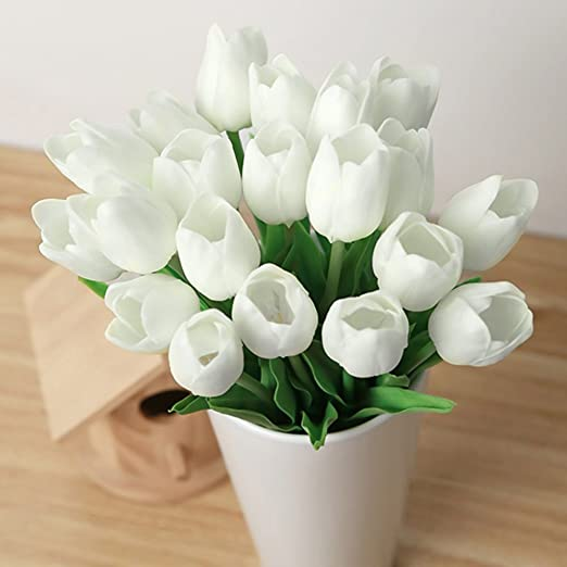 39 opinioni per kingtoys® 10PCS PU Mini Tulip Fiore Artificiale Real Touch Latex Tulipano per la