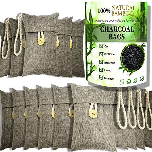 wyewye Activated Bamboo Charcoa Air Purifyingl Bags for Car Closet Shoe Home Basement Litter Box Cigarette Smoke Gym Bag…