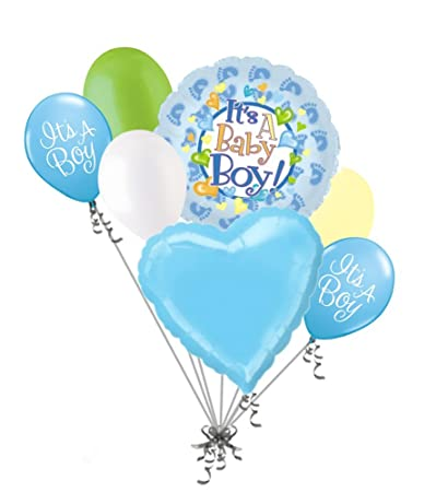 Amazon 7 Pc Baby Boy Foot Balloon Bouquet Welcome Home