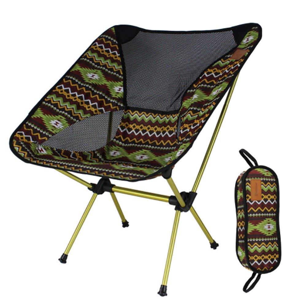 KOSHSH Bunter Klappstuhlim Freienmond Stuhl Fischen Stuhl Direktor Chair Aluminium Stühle Ultra Light Portable