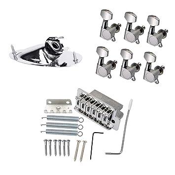 perfk Set de Puente para Guitarra Eléctrica Bridge de Bloqueo Resortes para Producción Musical Electrónica Aprendiziaje: Amazon.es: Instrumentos musicales