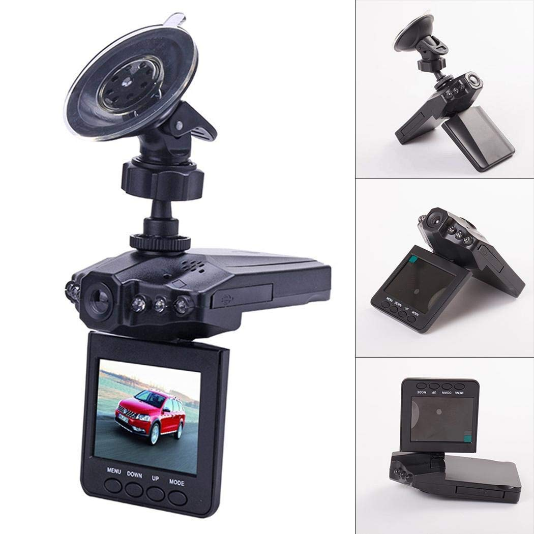 Mini Car 1080P Night Vision Dash Camera Car DVR 120 Degree Wide Angle Driving Recorder in-Visor Video (Black)