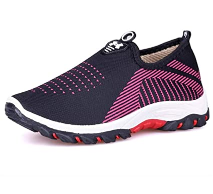 ae22577be9741 Amazon.com: Fuze Women Fashion Casual Mesh Air Shallow Low Comfort ...
