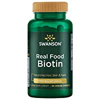 Swanson Real Food Biotin Vitamin B-7 Hair Skin Nail Metabolism Health from Organic...