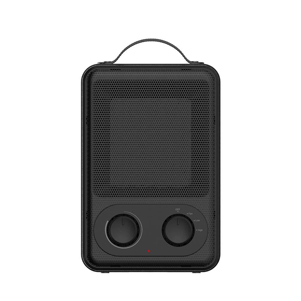 YANJINGHONG Raumheizung tragbare Stummschaltung für Heizung 900W/1800W Leistungseinstellung Kipp- und Überhitzungsschutz Einstellbarer Thermostat für Büro Zuhause Innen - Schwarz