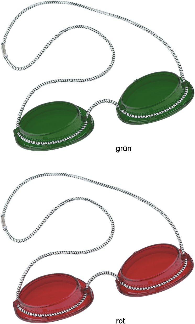Solarium Gafas de protección UV Gafas Solarium Gafas con goma 1x Verde + 1x Rojo–by Beauty & legwear Store