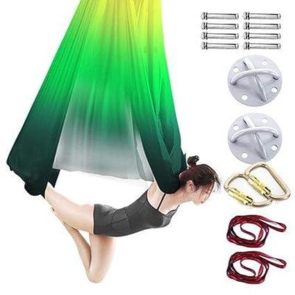 Xuetaimeigu Yoga Hamaca Aéreo Conjunto de Columpios de Yoga ...