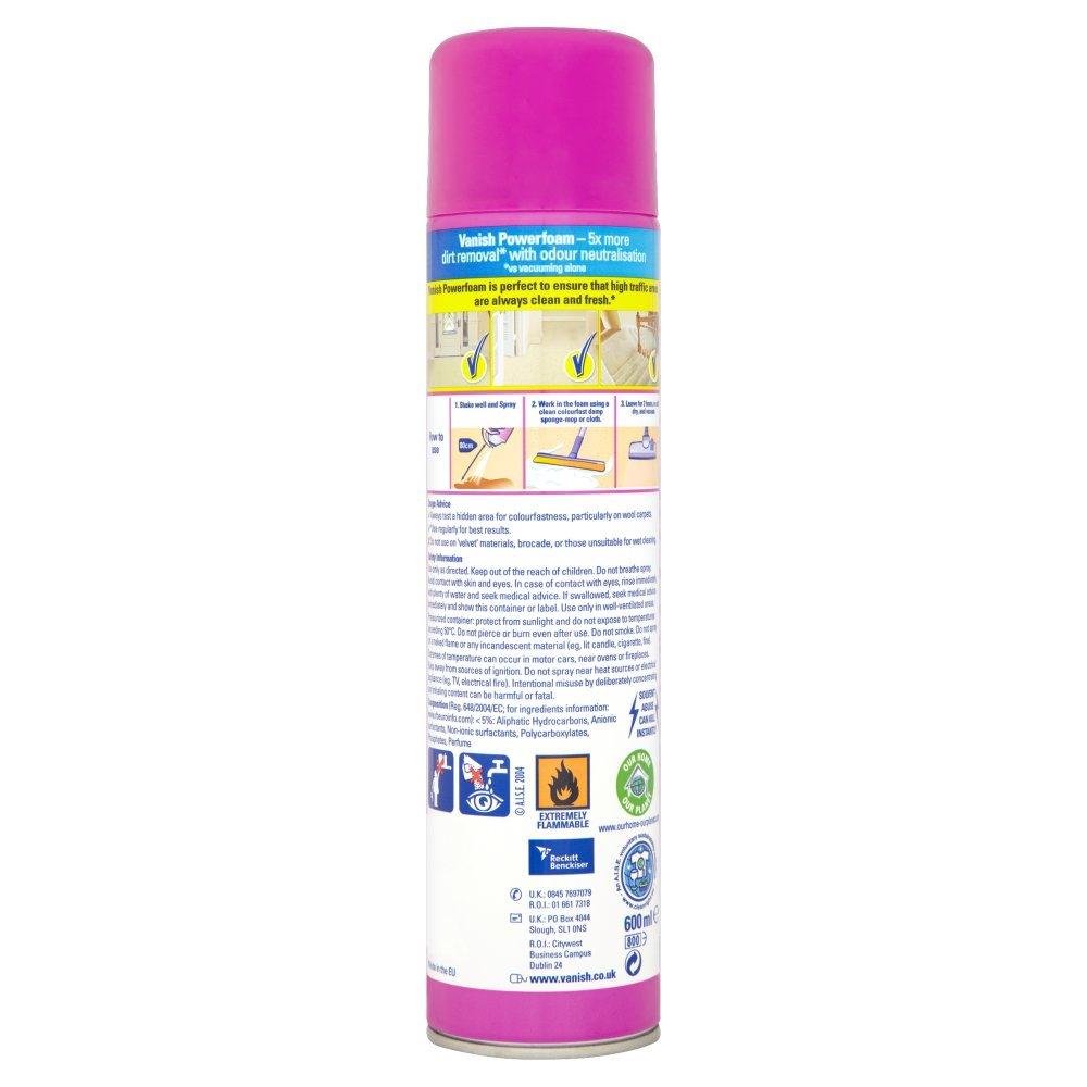 Vanish Preen Power Foam Carpet Cleaner Aerosol 500g
