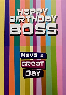 Boss Birthday Card Amazon Co Uk Office Products