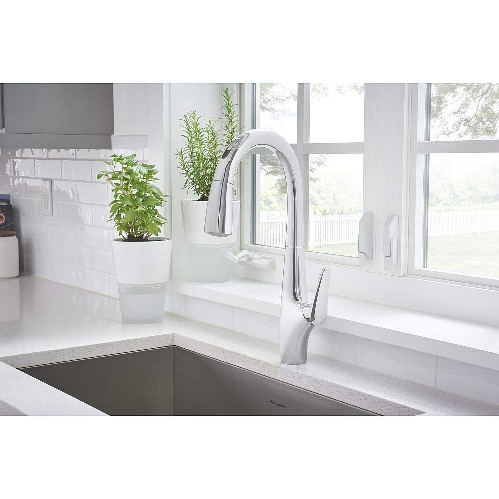 American Standard 4901380.002 Avery Selectronic Hands-Free Pull-Down Kitchen Faucet Polished Chrome