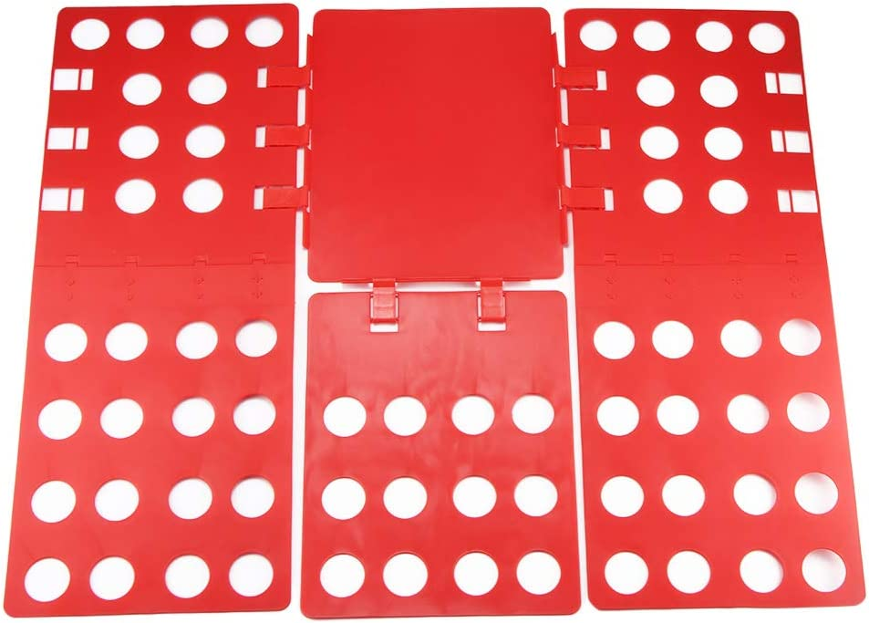 FORNORM Clothes Folding Board for Adult, Folder Easy Fast Folding Boards Laundry Folder Flip Fold 56x67cm (Random Color Adult Size)