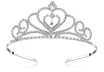 Amazon.com: Lovelyshop - Tiara de cristal con pedrería para ...