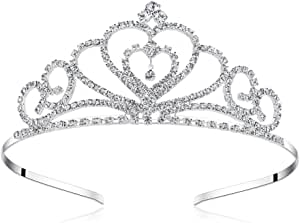 Lovelyshop Rhinestone Crystal Tiara-Wedding Bridal Prom Birthday Pegeant Prinecess Crown (Heart)