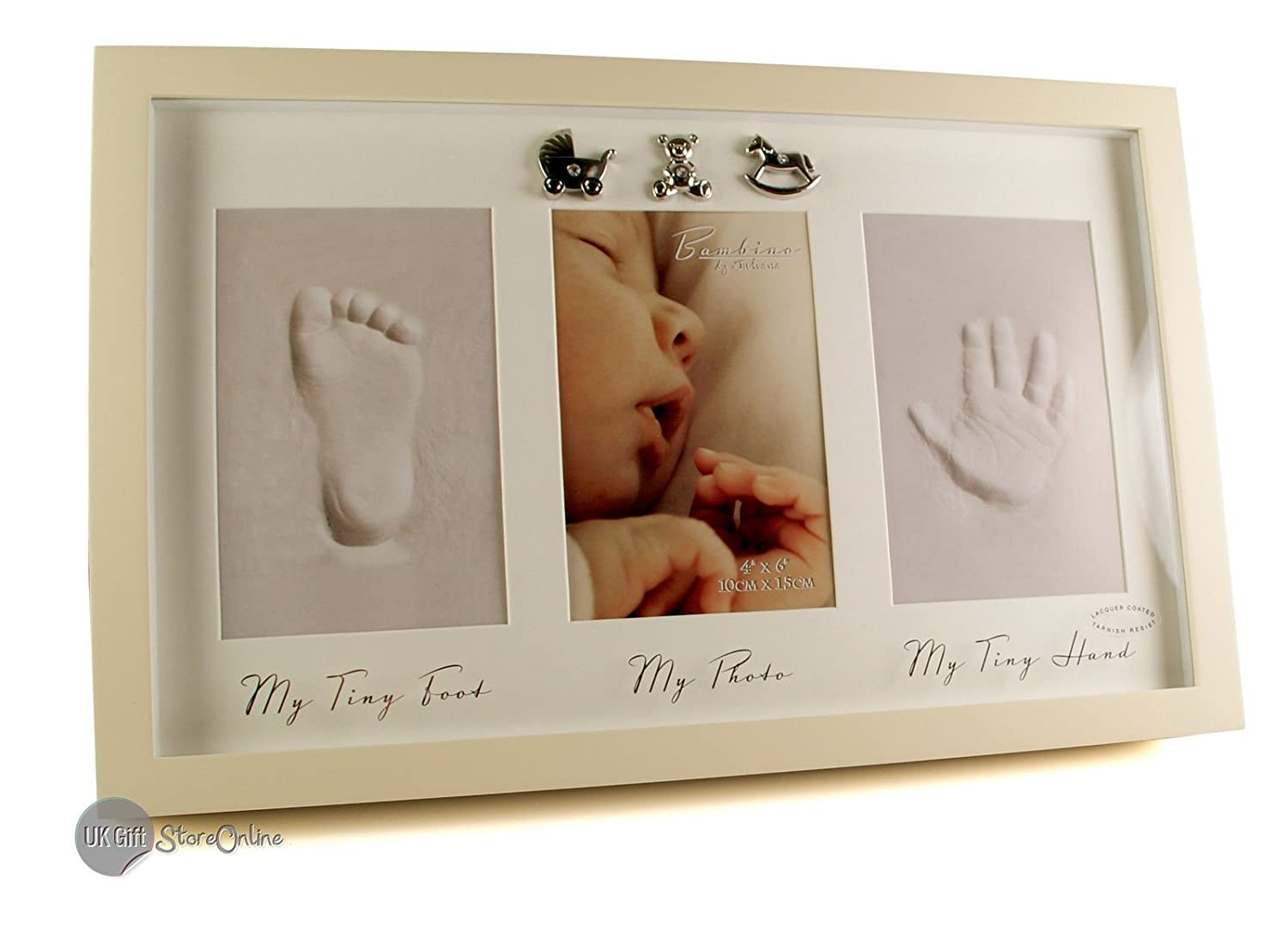 Baby Hand Print and Foot Print Plaster Cast Kit & Photo frame ukgiftstoreonline