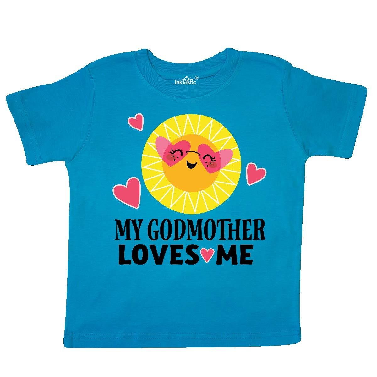 inktastic My Godmother Loves Me Girls Toddler T-Shirt