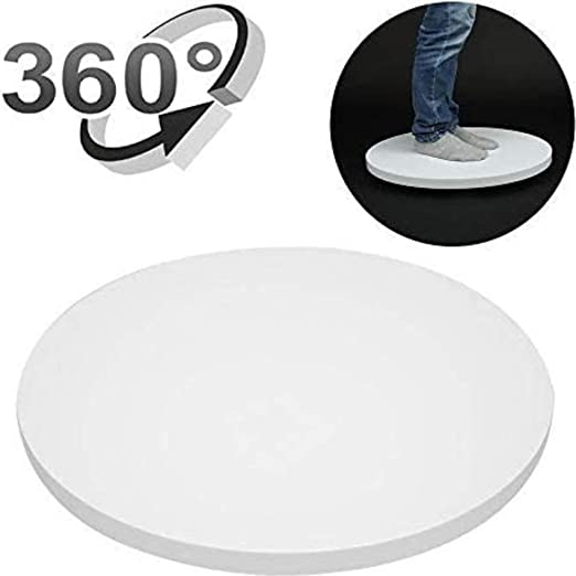 Color : White Max Load 4kg CAOMING 30cm 360 Degree Electric Rotating Turntable Display Stand Mirror Top Video Shooting Props Turntable for Photography White Durable