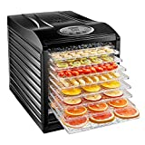 Chefman 9 Tray Food Dehydrator Machine Professional Electric Multi-Tier Food Preserver, Meat or Beef Jerky Maker, Fruit & Vegetable Dryer with BPA Free Slide Out Trays & Transparent Door