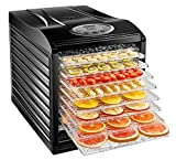 Chefman 9 Tray Food Dehydrator Machine Professional Electric Multi-Tier Food Preserver, Meat or