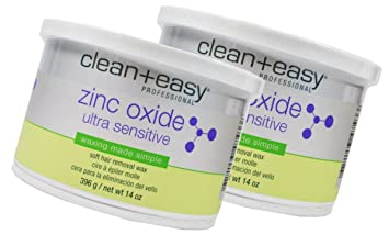 Amazon com : Clean+easy Zinc Oxide Ultra Sensitive Wax