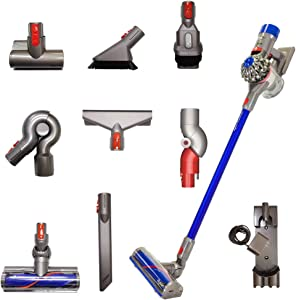 Dyson V8 Animal Pro+ Cordless Stick Vacuum Cleaner w/ 9 Tools Including Mini Motorized Tool, Combination Tool, Mattress tool, Low reach and Up Top Adaptor, Cord-Free, Lightweight, Powerful Suction