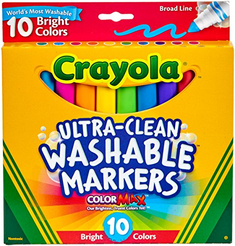 Crayola  Ultraclean Broadline Bright Markers (10 Count)]()