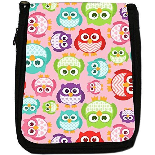 Big Canvas Kawaii Cute Eye Bag Wallpaper Medium Shoulder Size Black Owls Owl rwZrqOxYH