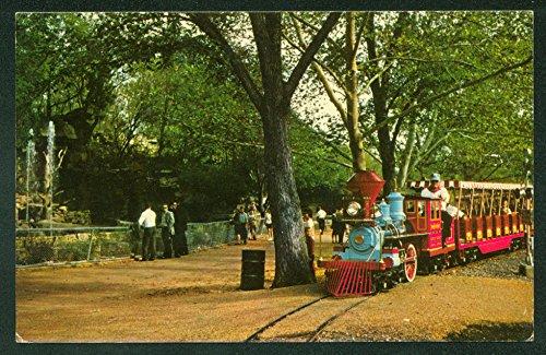 Zoo Line FOREST PARK ST LOUIS MO Missouri Miniature Train Railroad Postcard