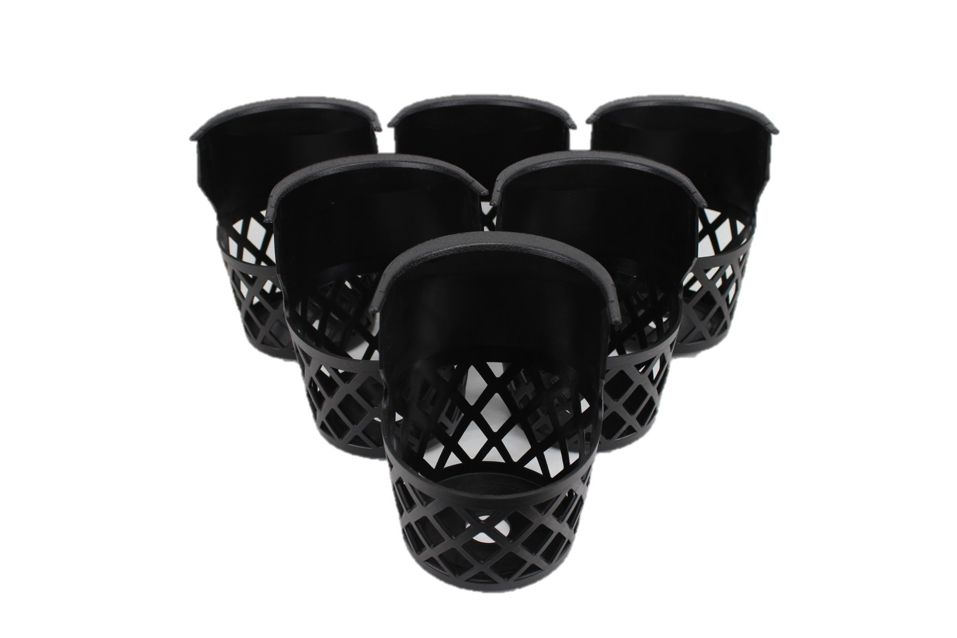 Pool Table Pockets Black Plastic Web Set of 6