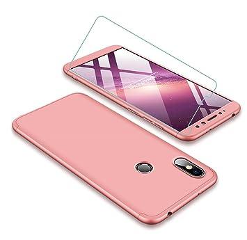 busca lo último nuevo estilo de tienda oficial Funda Xiaomi Redmi S2 360 Grados Oro Rosa Ultra Delgado Todo Incluido Caja  del teléfono de la Protección 3 en 1 PC Case + Protectora de Película de ...