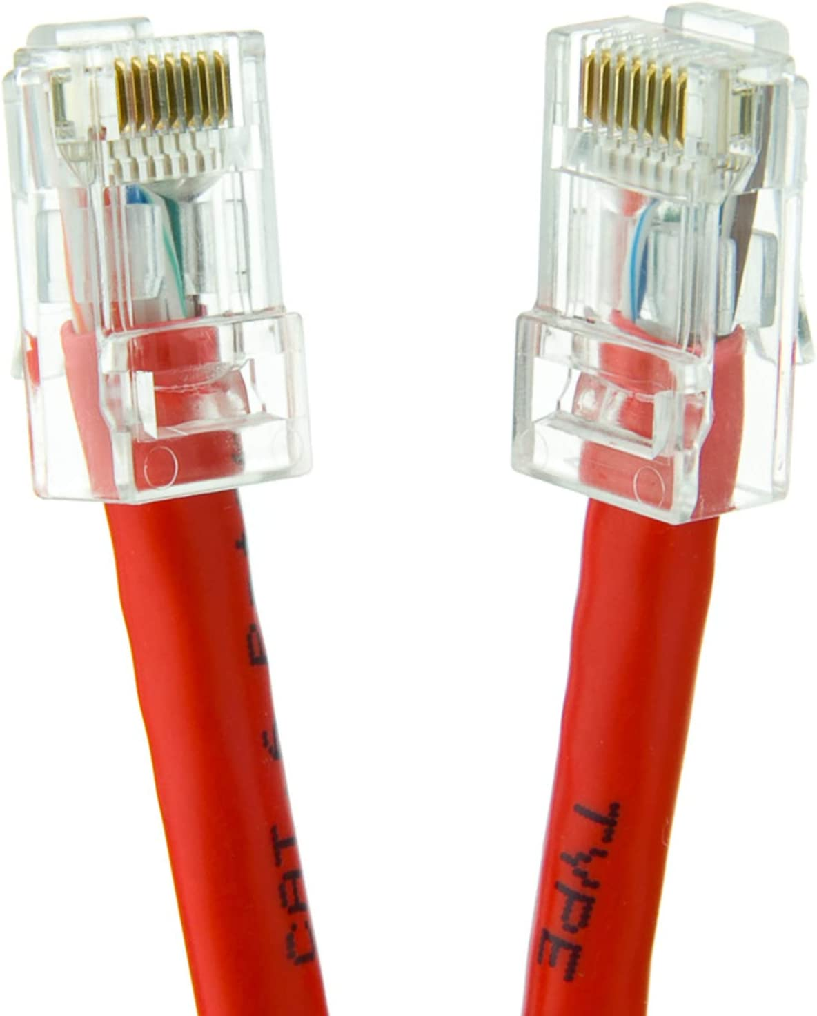 20-Pack - 35 Feet 24AWG Network Cable with Gold Plated RJ45 Non-Booted Connector 350MHz GOWOS Cat5e Ethernet Cable 1Gigabit//Sec High Speed LAN Internet//Patch Cable Red