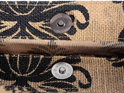 Pocket And in Jute nbsp;Bag Button Inner 2 Handles Ideapiu Printed Rope gnqP8pPT
