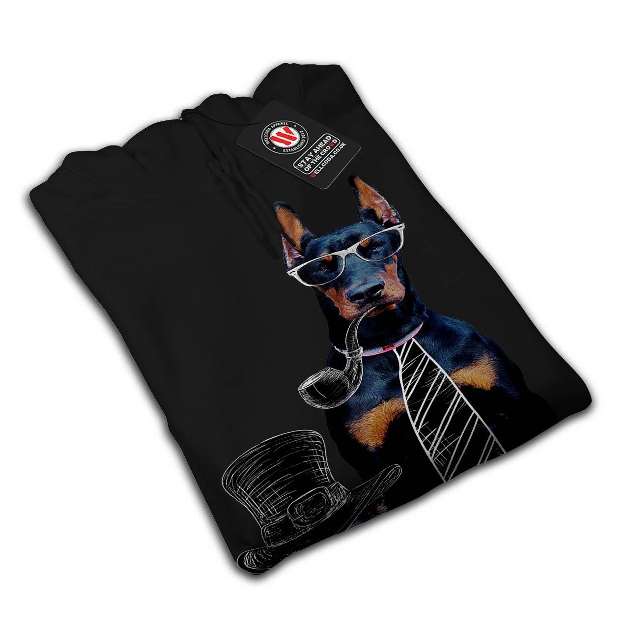 Puppy Print Hooded Sweatshirt Wellcoda Sir Cute Funny Dog Womens Hoodie