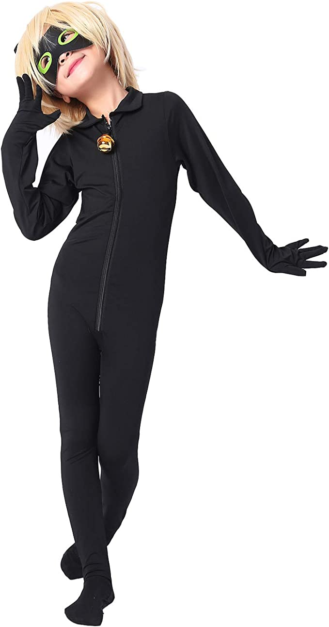 Modi Mono de Disfraz de Mariquita para niños, Disfraz de Gato Noir ...