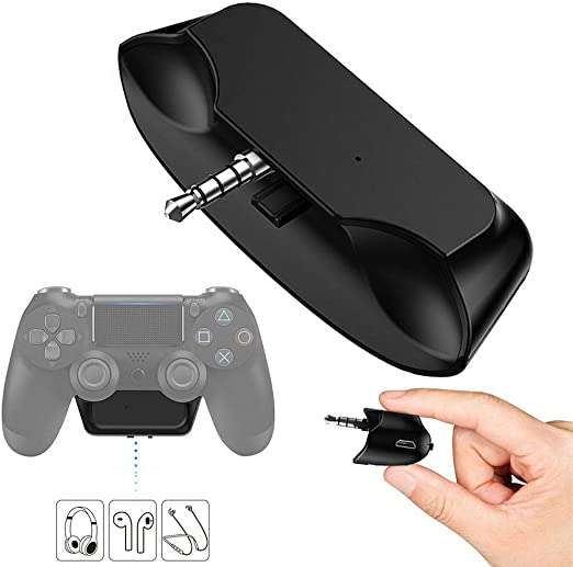 Amazon Com Ps4 3 5mm Bluetooth Headset Audio Adapter Dongle Receiver Wireless Gaming Headphone Earphone Speaker Tws For Sony Playstation 4 Kitchen Dining