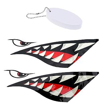 Perfeclan 2 Piezas De Tiburón Dientes Boca Pegatinas ...