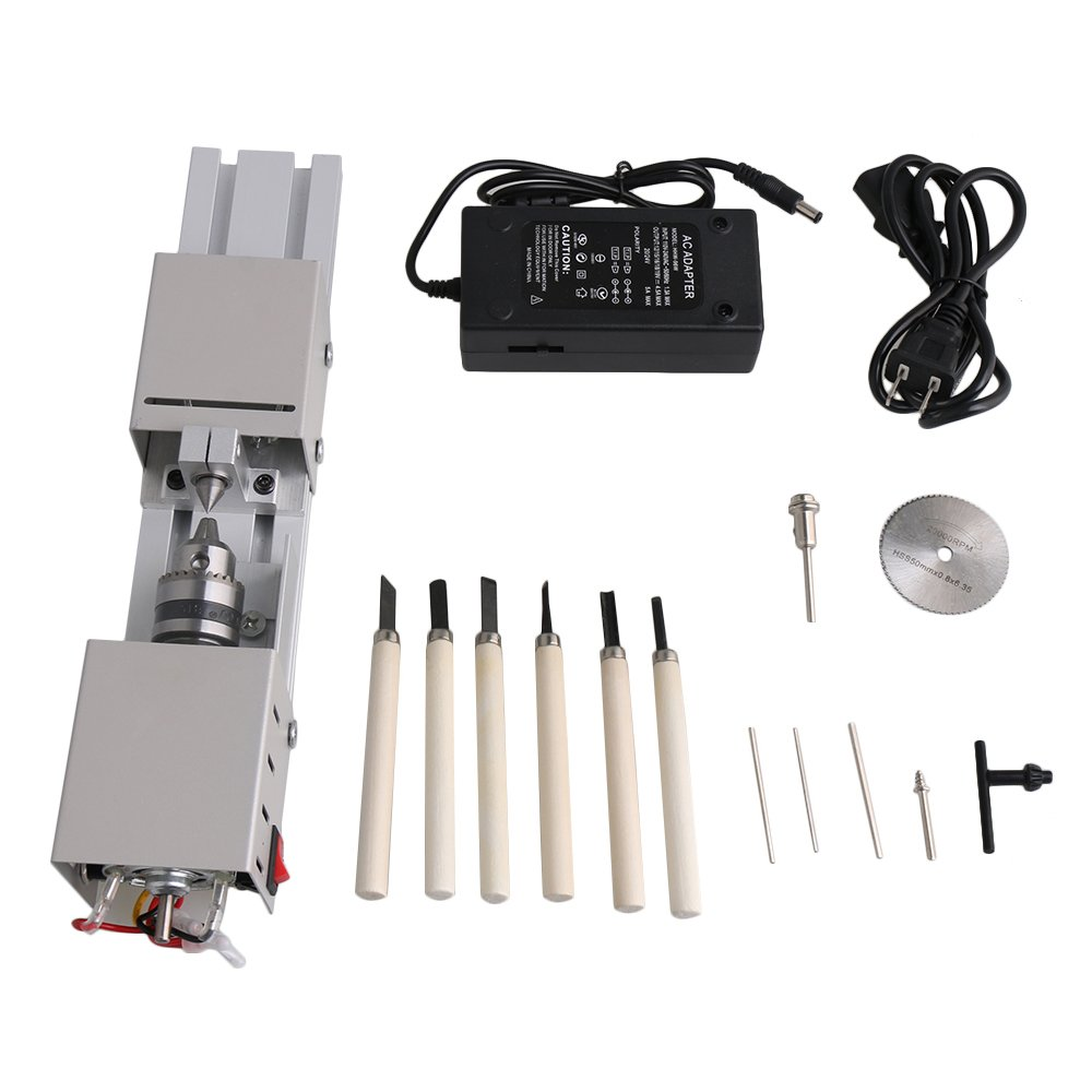 Mxfans High Speed Saw Blade Pearl Micro Lathe Machine Woodworking Tool Set