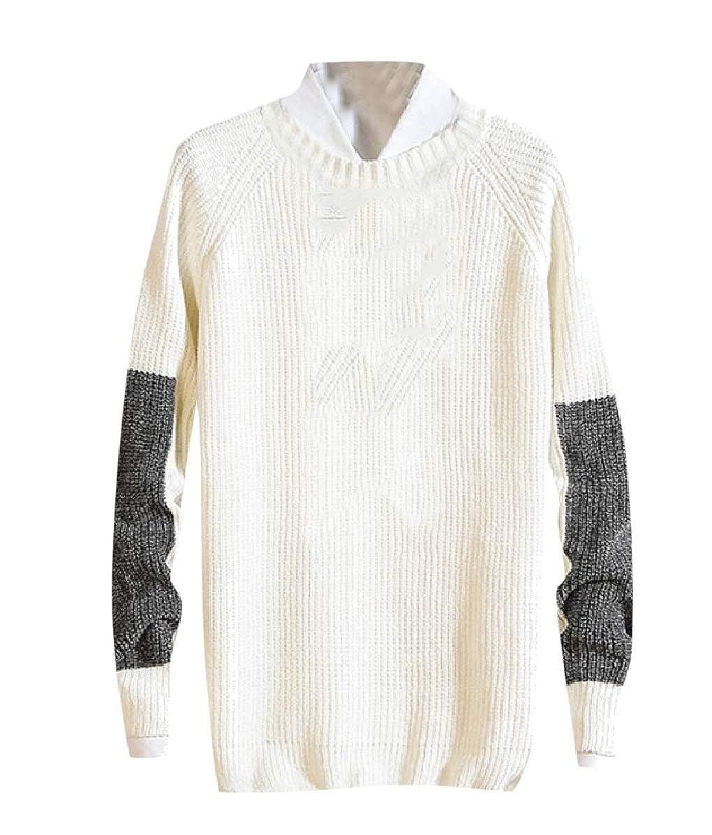 Zimaes-Men Assorted Colors Crewneck Winter Knit Jumper Pullover Sweater