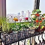 Hengfey Metal Plant Stand Holder Balcony Hanging Rack Indoor Display Flower Pot Shelf 30CM