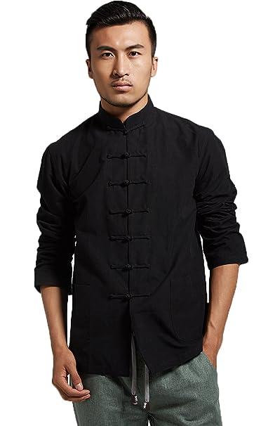 Amazon.com: ezshe – para hombre traje de cuello mandarín ...