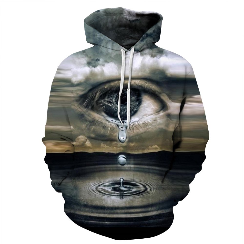 OYABEAUTY Unisex Realistic 3D Print Galaxy Pullover Hoodie Hooded Sweatshirt