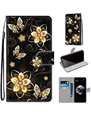 Miagon Full Body Case for Xiaomi Redmi Note 6 Pro,Colorful Pattern Design PU Leather Flip Wallet Case Cover with Magnetic Closure Stand Card Slot,Diamond Butterfly
